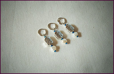 Blue Stitch Markers